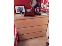 Ikea Malm three drawer chest