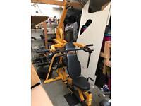 Powertec leverage gym weights bench