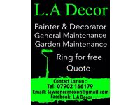 L.A Decor. Professional painter and decorator