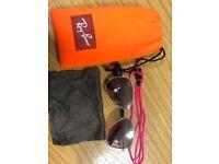 Children's Pink Rayban Sunglasses