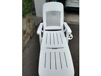 Sun Lounger bed with cushion