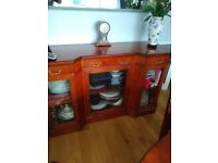 Dining table and chairs and sideboard