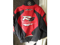 Yamaha R6 motorbike textile riding jacket size XL