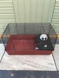 Large cage suitable for hamster/ gerbils etc. Inc food bowl, water bottle, igloo house and slide.