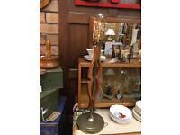 VINTAGE RETRO MID CENTURY 60s TEAK & BRASS TABLE LAMP REWIRED