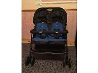 Twin pushchair - The Joie Aire Twin Stroller in Blue and Pink
