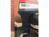 Clean Yamaha 75 hp outboard engine long shaft ptt