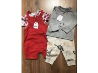 2 x 3-6 months outfits. Brand new