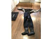 TYPHOON DIVING DRY SUIT .LARGE USED TWICE.
