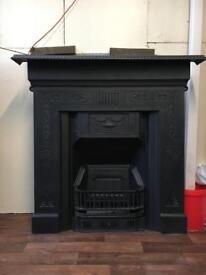 DEL £25 fireplace Victorian cast iron fire