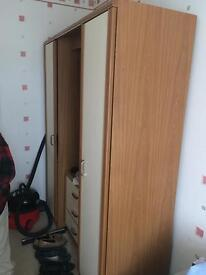 Wardrobe and side cabinet