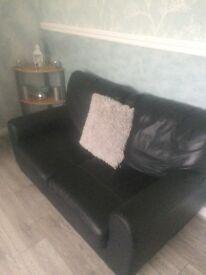 2 sofas for sale in black