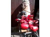Punch bag,leather punch ball,gloves,mitts,ankleweights ect