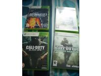 Call Of Duty Black OPs C.O.D 4 Modern Warfare Battlefield 3 & Bad Company XBOX 360 SWAP