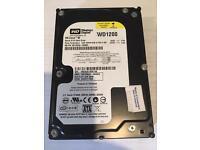 120gb Western Digital hard drive