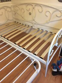 white guest bed