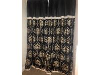 Stunning extra large black and gold curtains