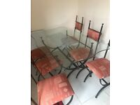 1 dining table with 6 chairs