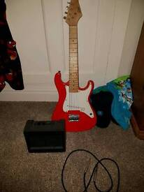 Child electric guitar & amp