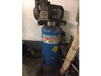 Air compressor ingersolrand 175 psi 3 phase spares or repair small pulley wheel missing