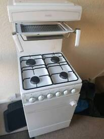 Gas cooker, oven, grill 4 burner