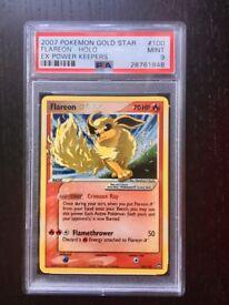 Flareon GOLD STAR Pokemon Card - PSA 9