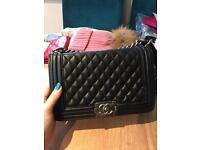 Chanel Le Boy genuine leather bag