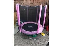 Plum pink trampoline