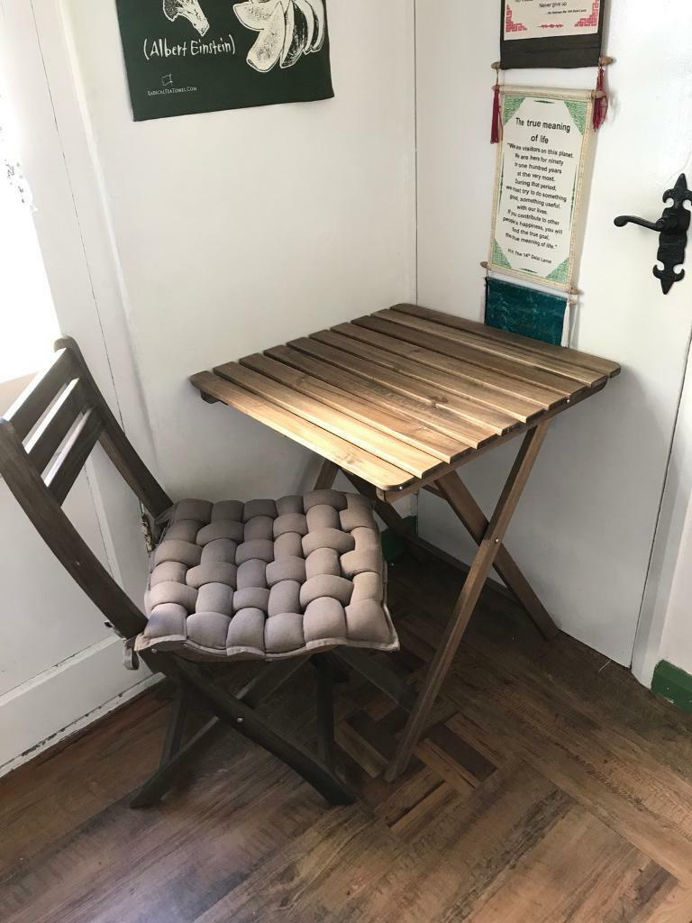Wooden foldable ikea ASKHOLMEN table and one chair | in Camberwell ...