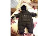 Tiny baby snow suit