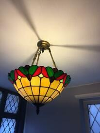 Tiffany stained glass ceiling lights x2 Debenhams
