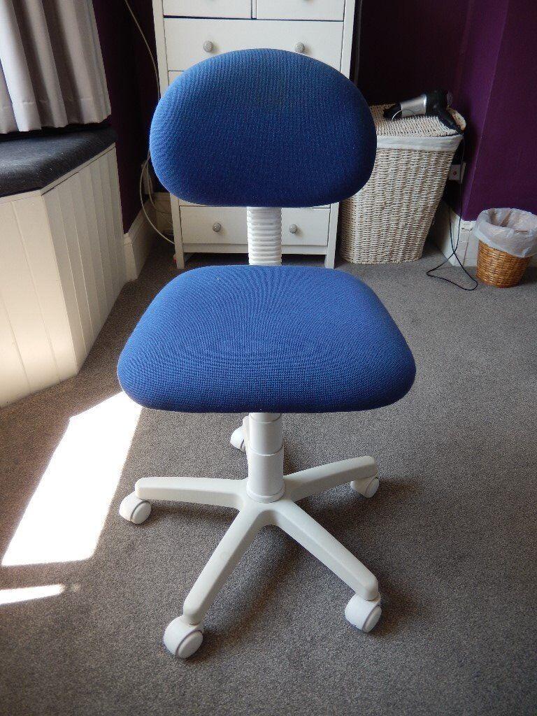 Ikea Swiven Desk Chair In Blue White