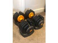 2x 25kg Adjustable Dumbbells - Basically brand new