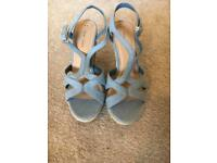 Blue Wedges Size 6