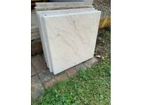 Light Grey Paving Slabs - 45cm x 45cm (30 available, £1 each or £20 for all)