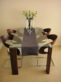 Glass Rectangular Dining Table from Dwell (chairs not included)