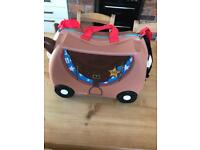 Trunki Sheriff horse boys girls suitcase back pack holiday toy ride on