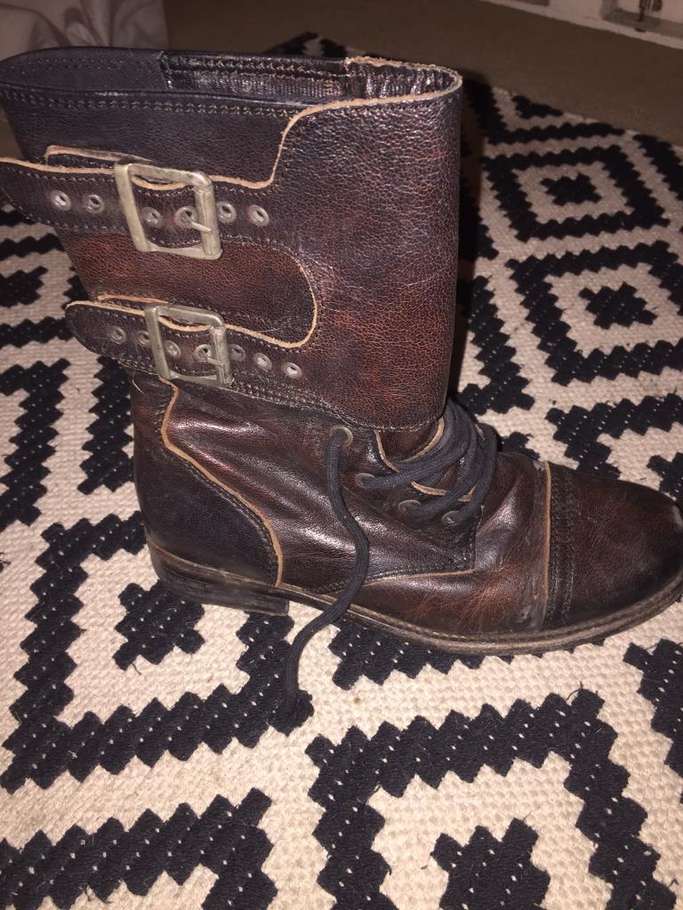 Allsaints military boots size 4 women's
