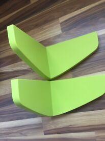 2x Ikea Mammut shelves green perfect condition