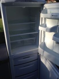Hot point White fridge freezer...,..,50/50 Free Delivery