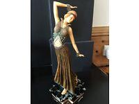 Antique Art Deco lady figure figurine statue