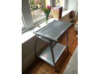 Silver metal computer desk for sale.