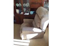 Riser Recliner chair. As new. Barely used. Electric powered