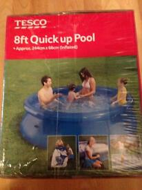 New Tesco 8ft quick up pool