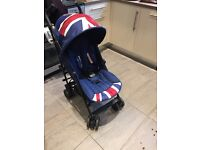 Mini easywalker Union Jack pushchair / stroller with box and two hoods very good condition