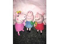 Peppa pig x2 and George soft toys
