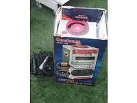 Karaoke machine and microphones