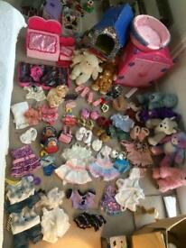 Build a bear huge bundle bears clothes wardrobe and accessories