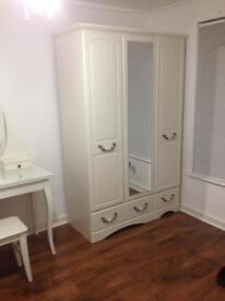 3 Doors Wardrobe with Mirror