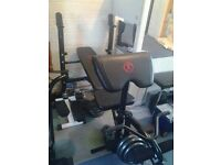 Marcy Weight Bench with XL Arm Curl Pad & Leg Developer
